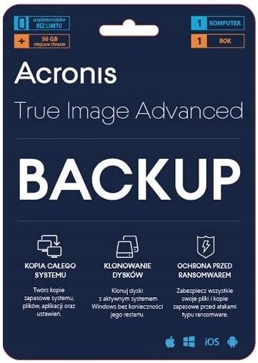 Acronis True Image+F-Secure Internet Security 1rok Producent F-Secure