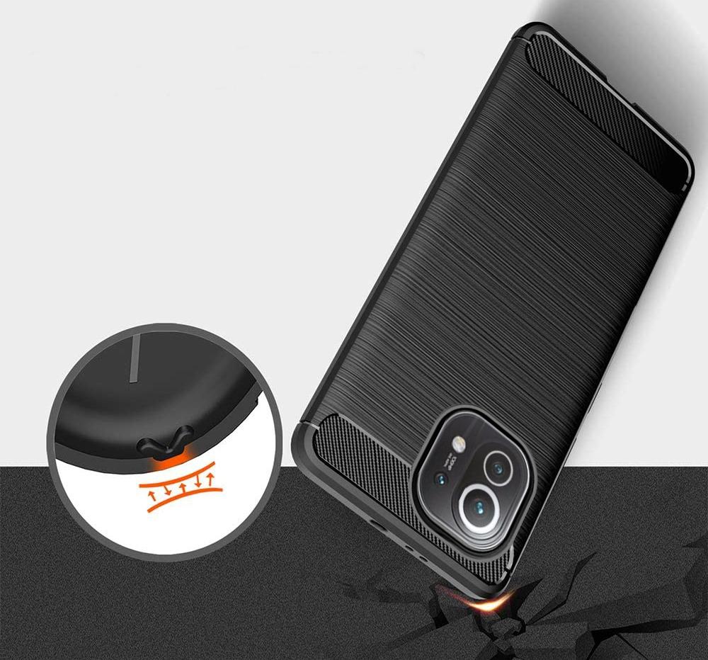 Etui PANCERNE do Xiaomi Mi 11 Karbon Case + Szkło Dedykowany model Xiaomi Mi 11