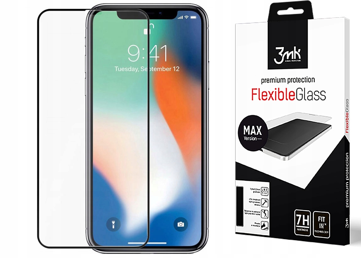 Iphone X Xs Szkło 3MK Flexible Glass Max Hybrydowe