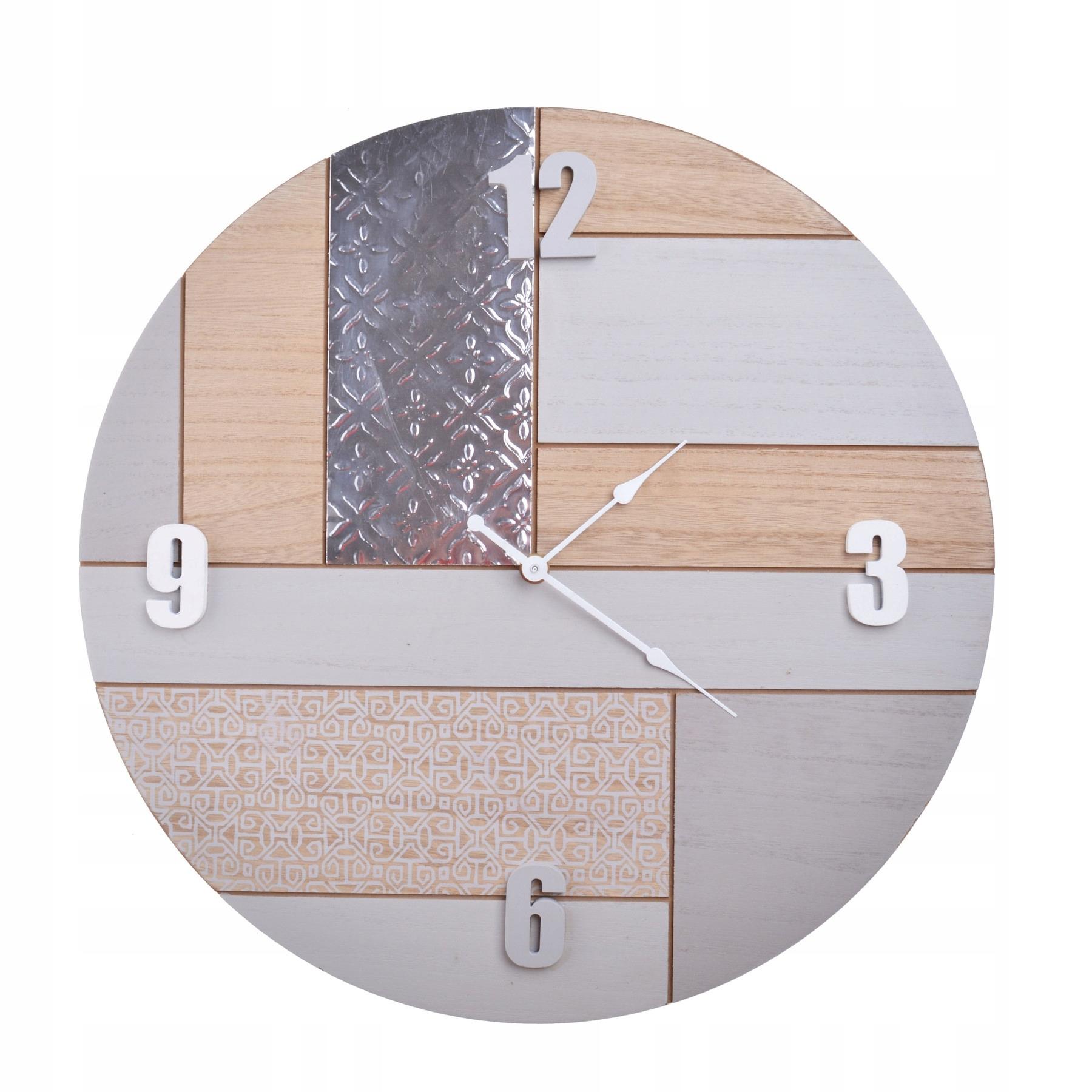 Retro béžové nástenné hodiny do kancelárie Fero Ø43 cm