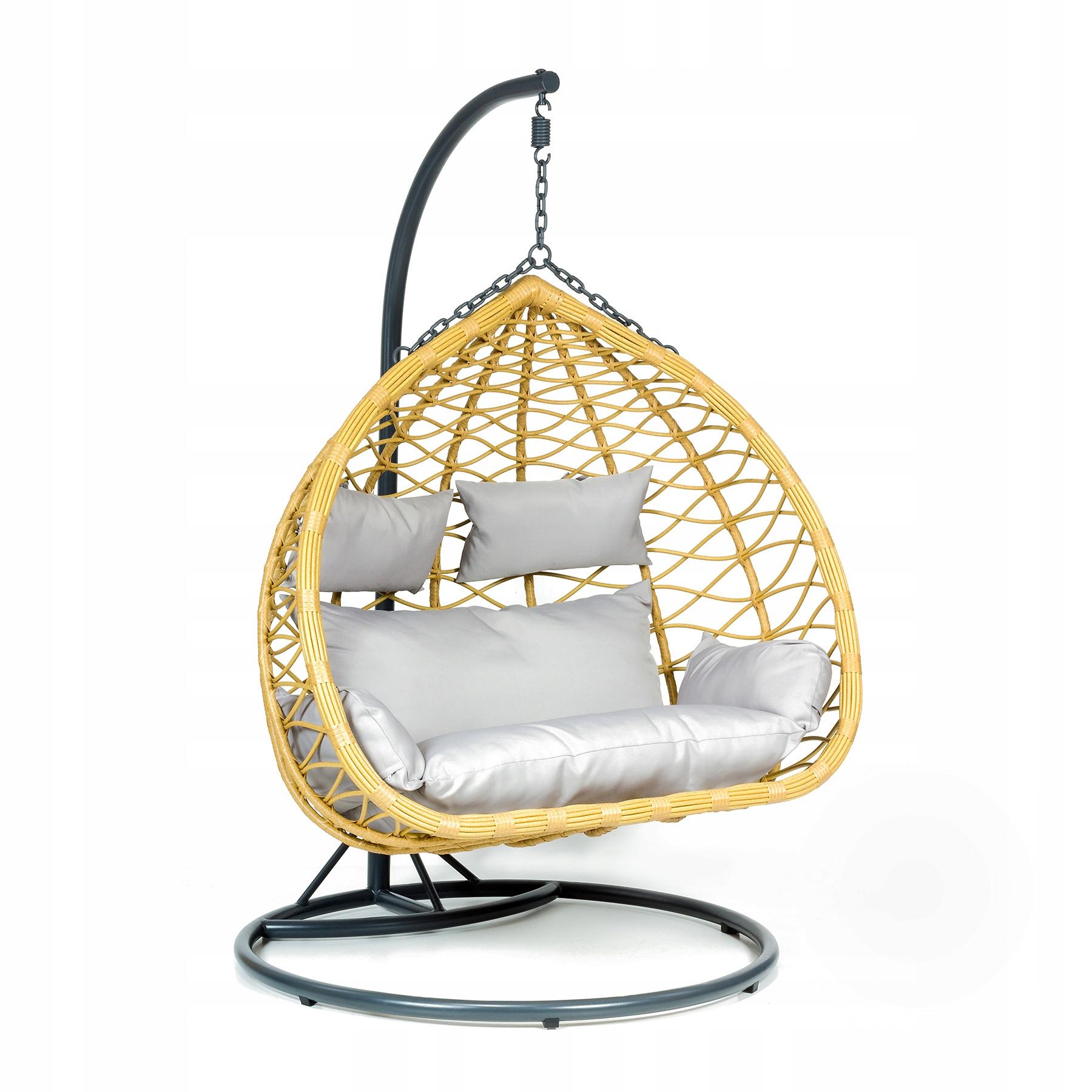 Závesná záhradná stolička XXL hojdací kokonový kôš
