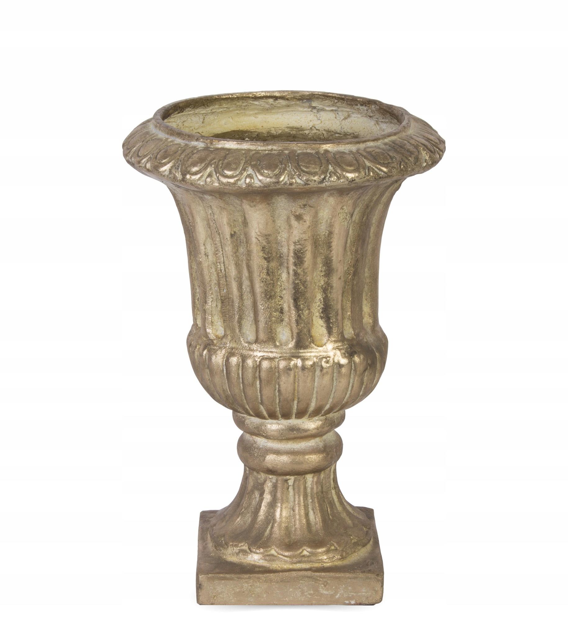 Váza na kvetináče retro dekorácia zlatá