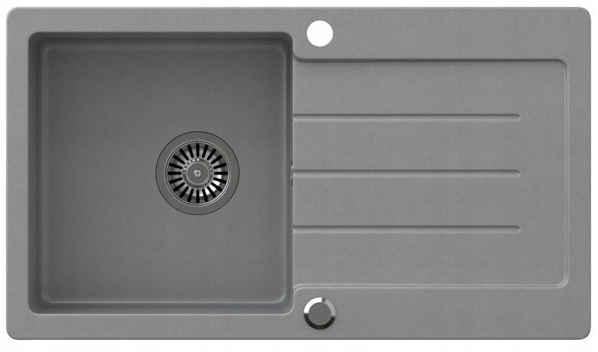 Gránit 77x44 mosogató + SIPHON / fekete bézs szürke Téglalap alakú