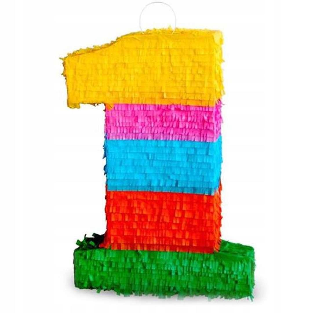 Pinata Pinata pre narodeninovú číslicu 1 COLOR XXL