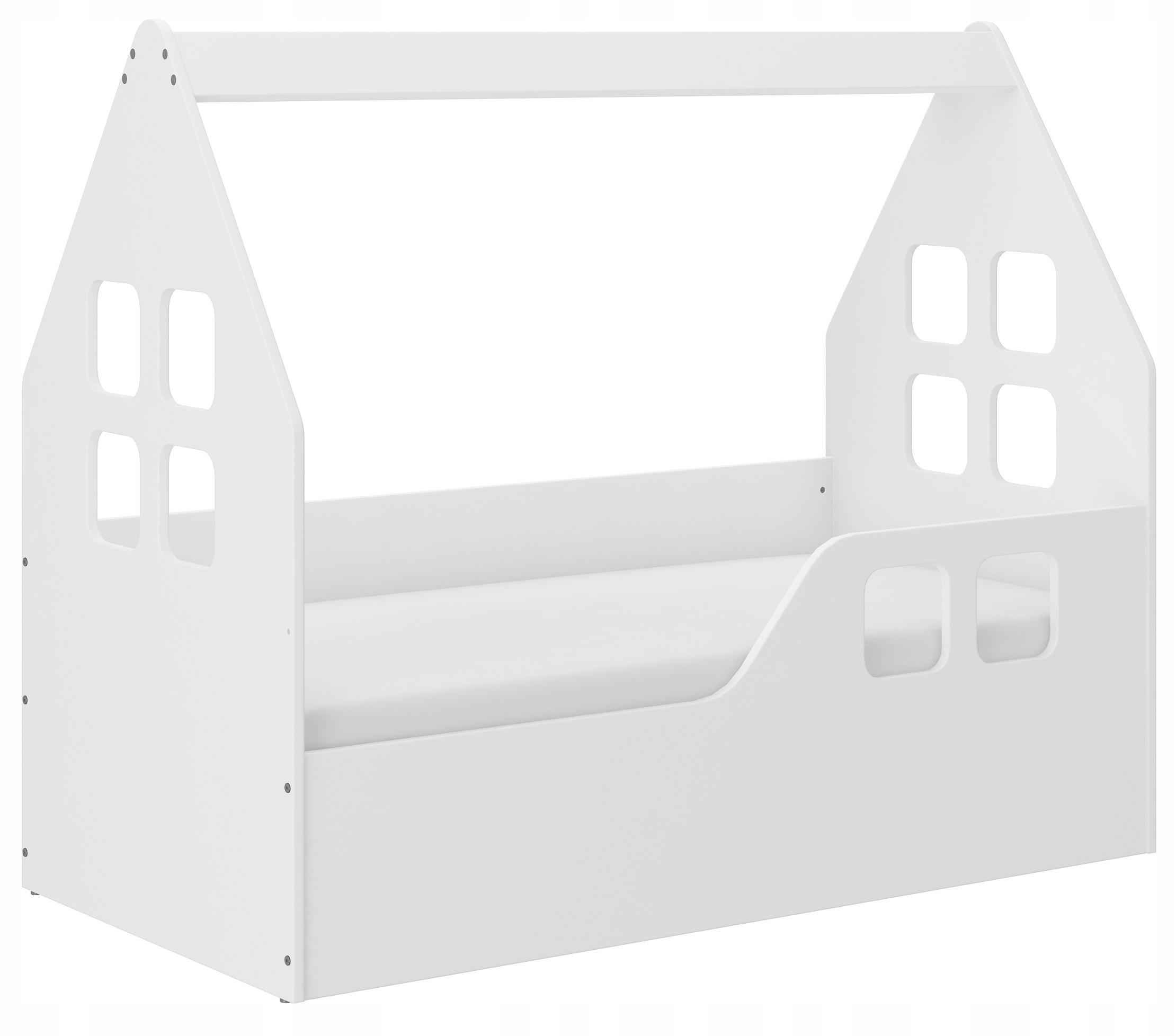 Łóżko dziecięce DOMEK 140x70 + materac + pokrowiec