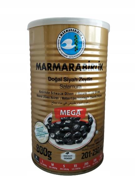 Oliwki czarne tureckie z pestką 800 g netto - XL