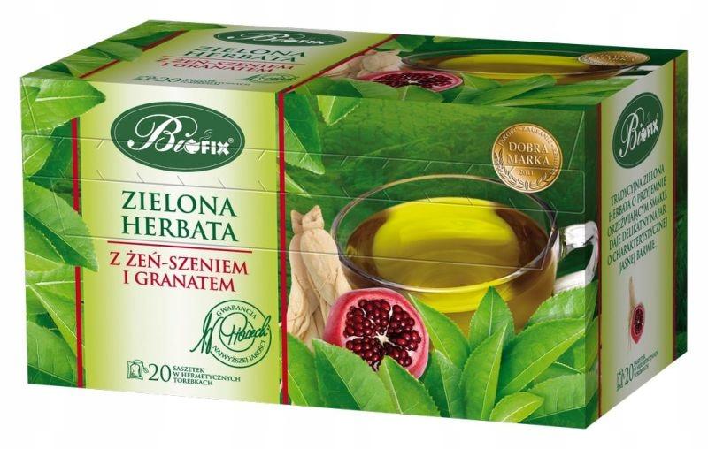 Купить Зеленый чай BIFIX С ЖЕНЬЕМ И ГРАНАТОМ 20T на Otpravka - цены и фото - доставка из Польши и стран Европы в Украину.