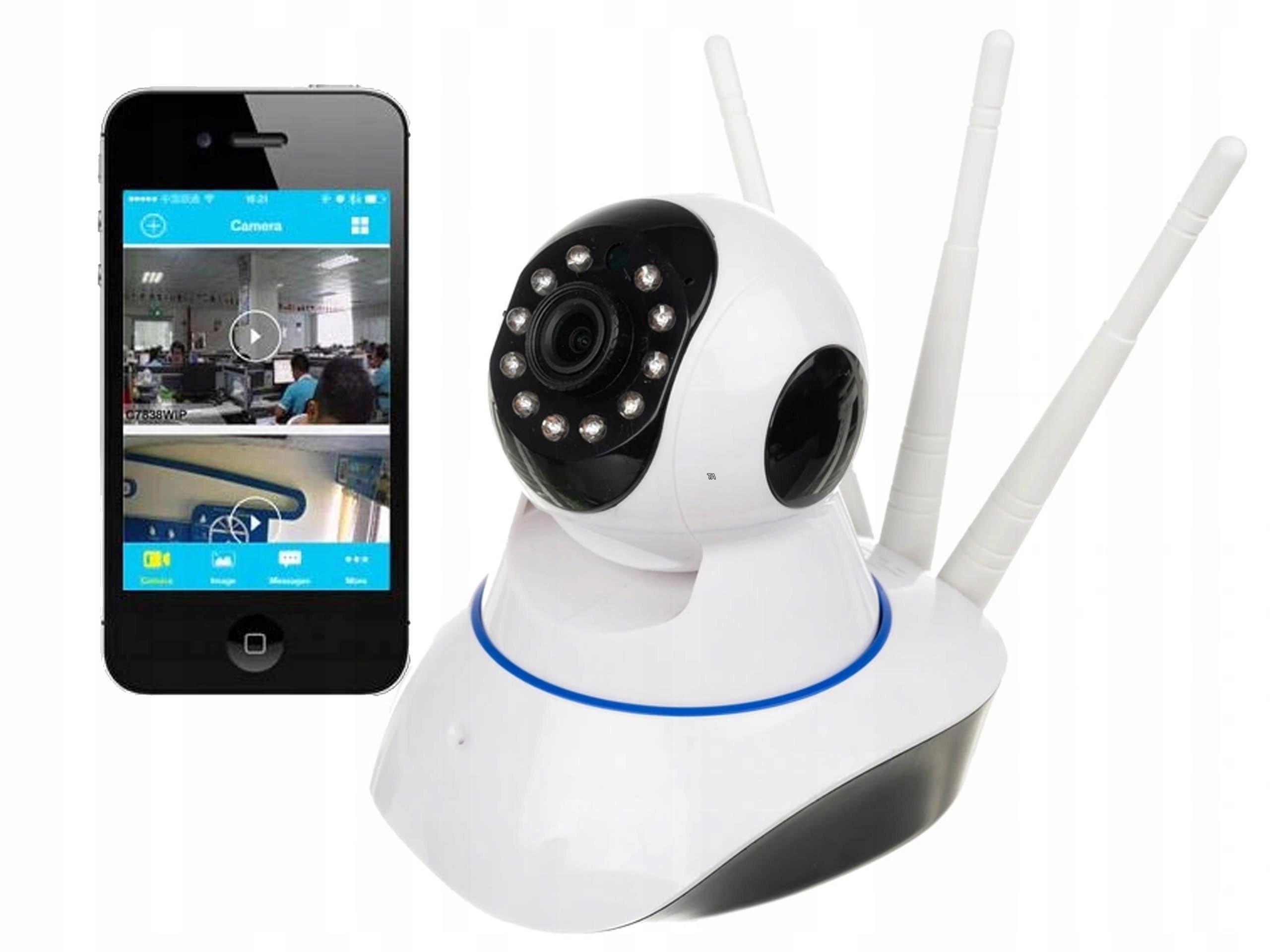 Niania Wifi Kamera Obrotowa Monitoring Na Telefon
