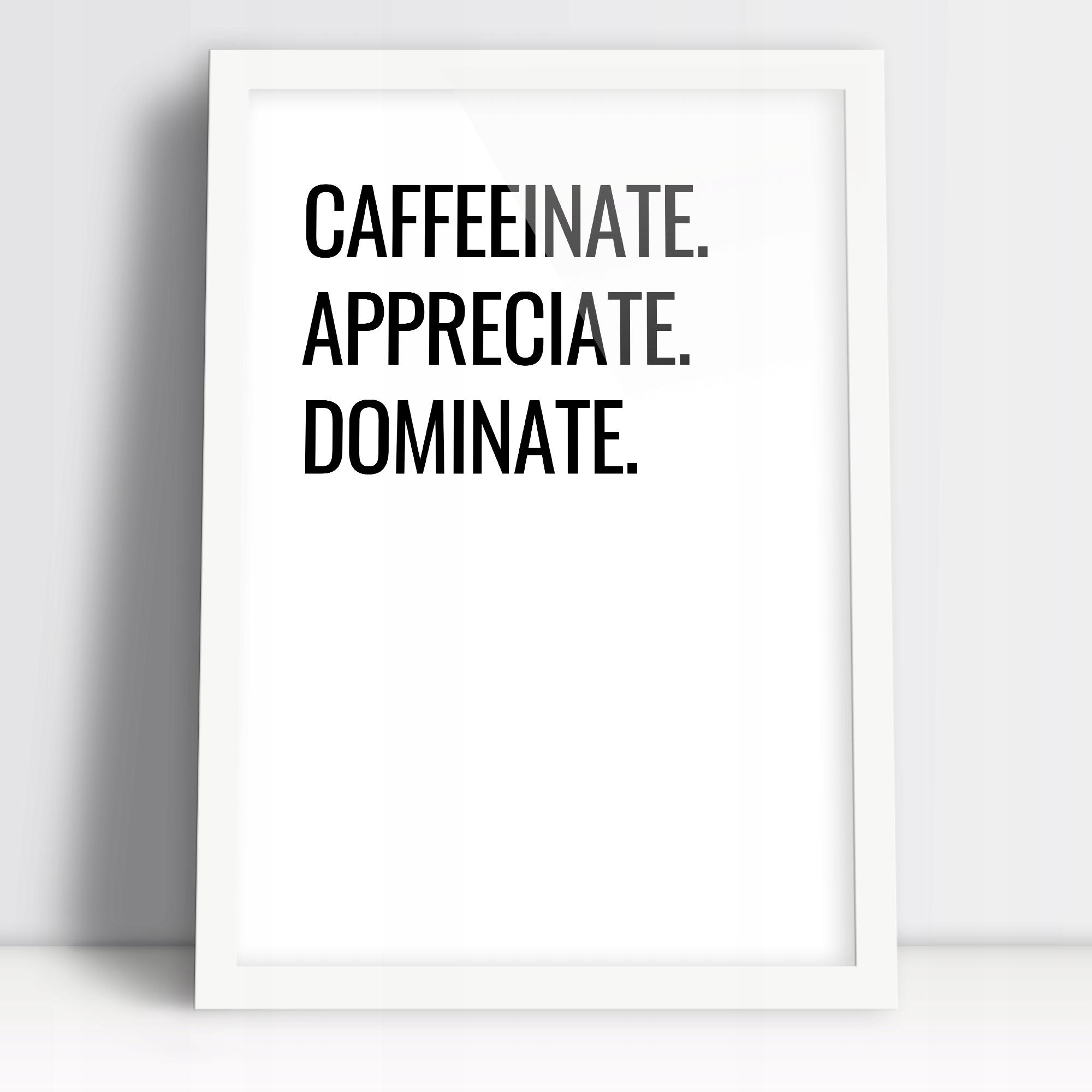 Постер для столовой и кухни в кофейной рамке А3 в рамке