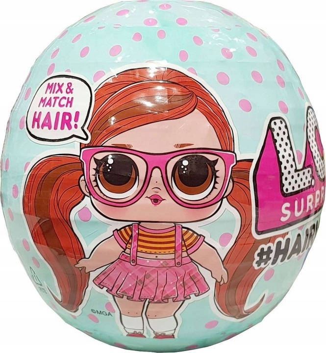 LOL Suprise HAIRVIBES Bábika s vlasmi Big Ball