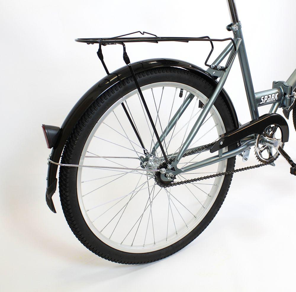 Klasický mestský bicykel Suwano TITAN, skladací 24 sivý