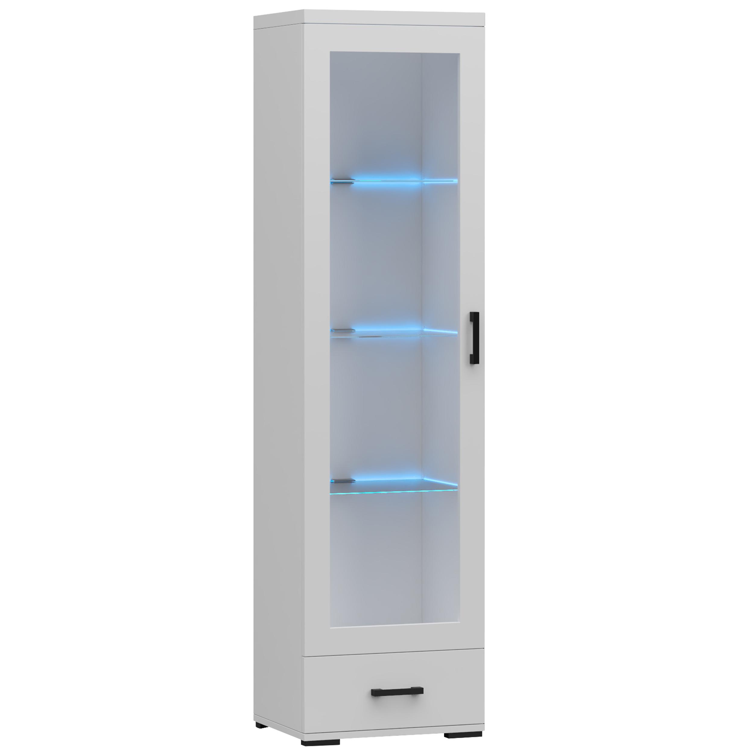 Витрина с ящиком 50 см, светодиодный вариант - Белый