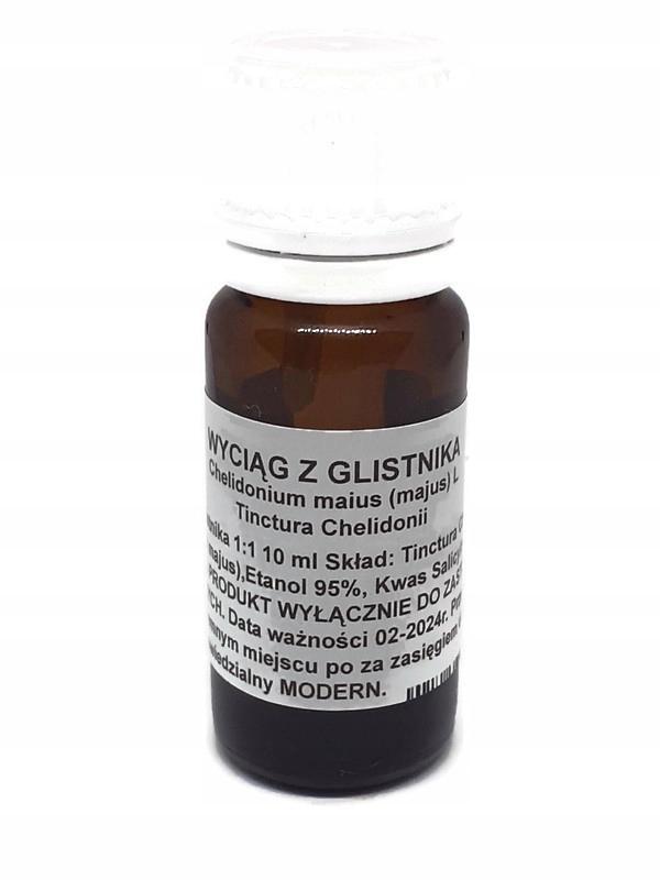 Glistnik Jaskółcze ziele Kurzajki HPV wirusy 10ml.