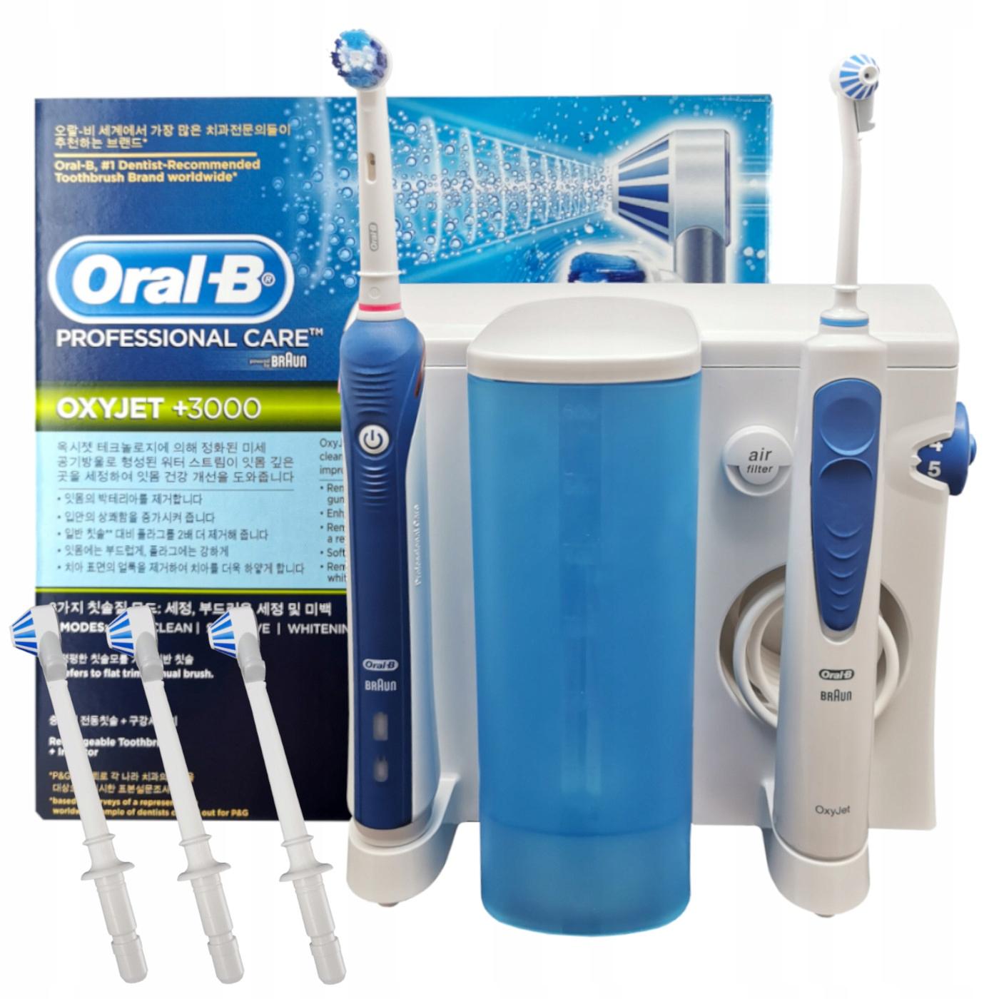 Szczoteczka PRO 3000 + Irygator Oral-B OxyJet OC20