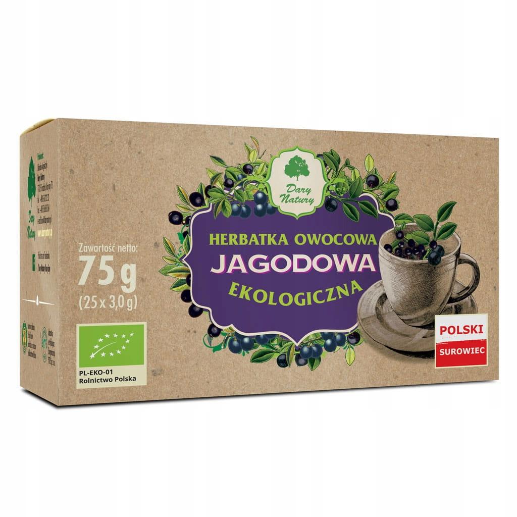 Черничный чай 25x3г ECO Dary Natury