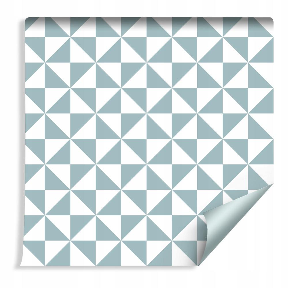Geometrické tapety v štýle trojuholníkov do obývacej izby