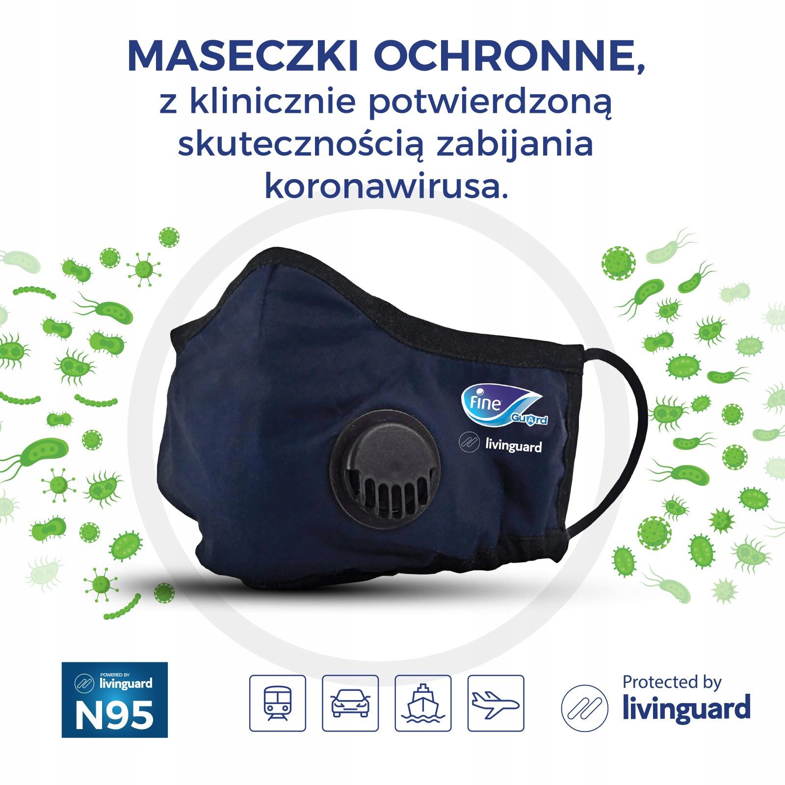 Купить Maseczka antywirusowa Fine Guard - rozmiar L на Otpravka - цены и фото - доставка из Польши и стран Европы в Украину.
