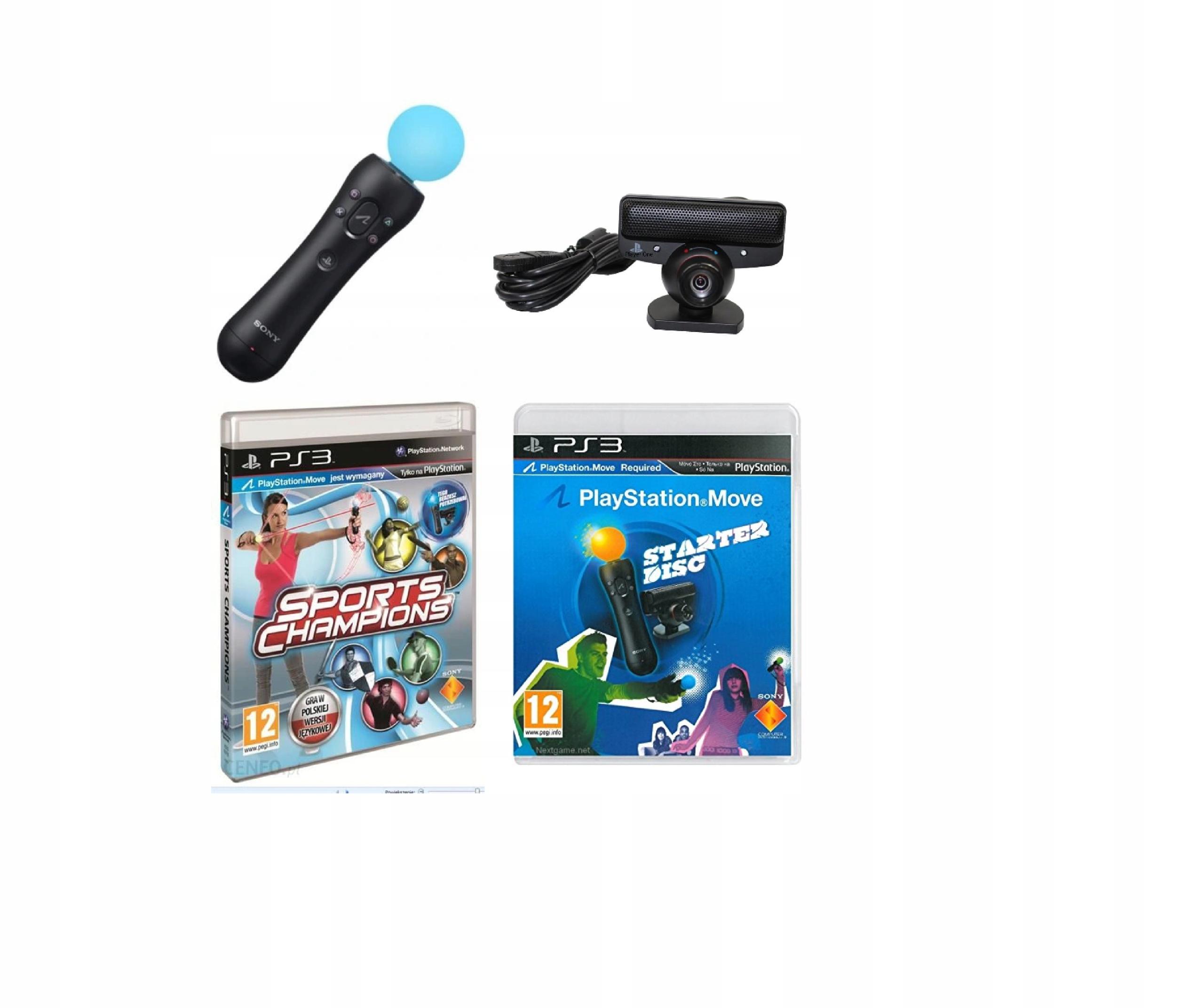 Kontroler Move Kamerka Sports + Starter PS3 3xPL
