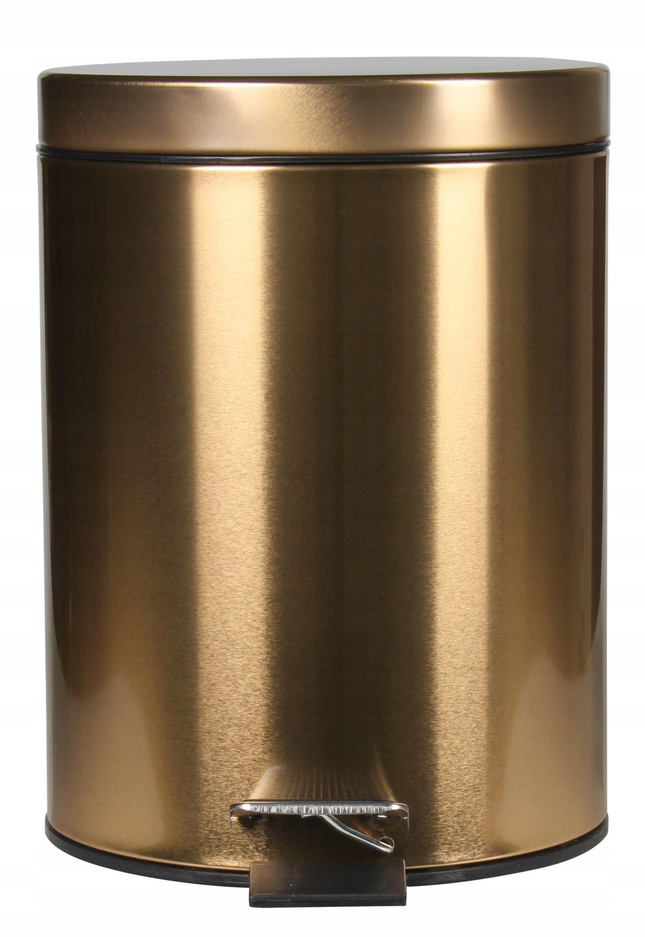 Kovový kúpeľňový kôš Lesk 5l zlatý