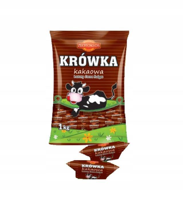 Cukierki krówka krówki kakaowe 1 kg kruche krówki