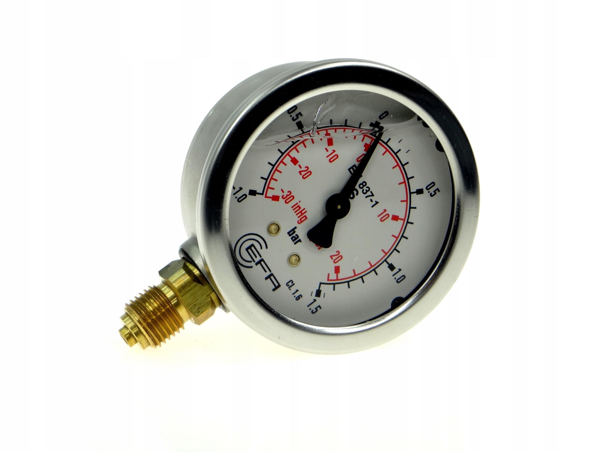 Vákuový mesometer glycerín z-1 až + 1,5 bar 1/4 '