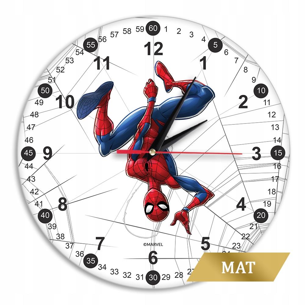 Matné nástenné hodiny Marvel Spider Man biele 30,5 cm