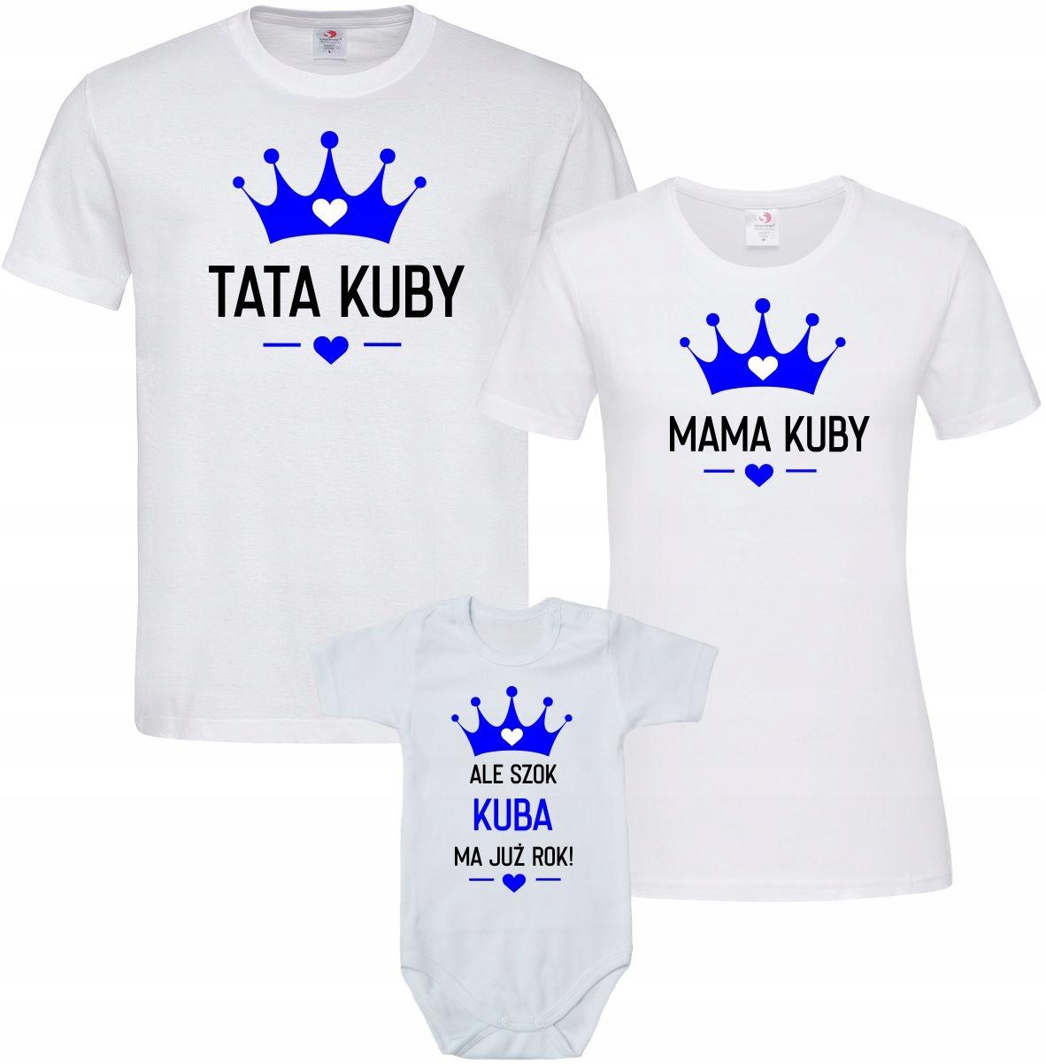 Koszulki Na Roczek Dla Rodziny Mama Tata Syn Body 9446199154 Allegro Pl