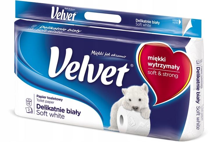 Туалетная бумага Velvet 3 wastwy мощный 8 рулонов