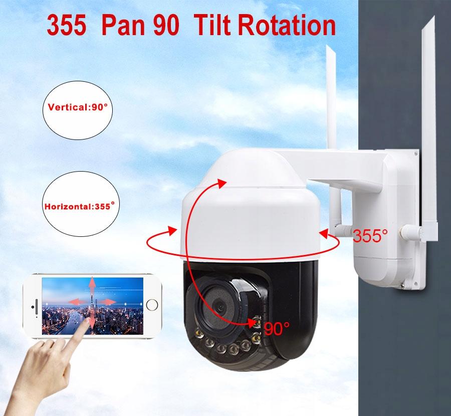 KAMERA 4G GSM LTE OBROTOWA MONITORING DOMU PLACU Typ kamery czarno-biała kolorowa na podczerwień