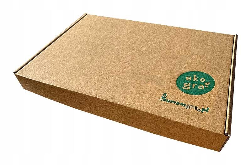 eko gra planszowa dla dzieci EKOMANIA segregacja Materiał Drewno Karton Papier