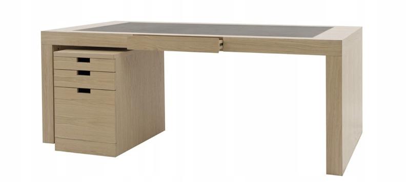 Письменный стол с кожаной столешницей + БЕСПЛАТНО