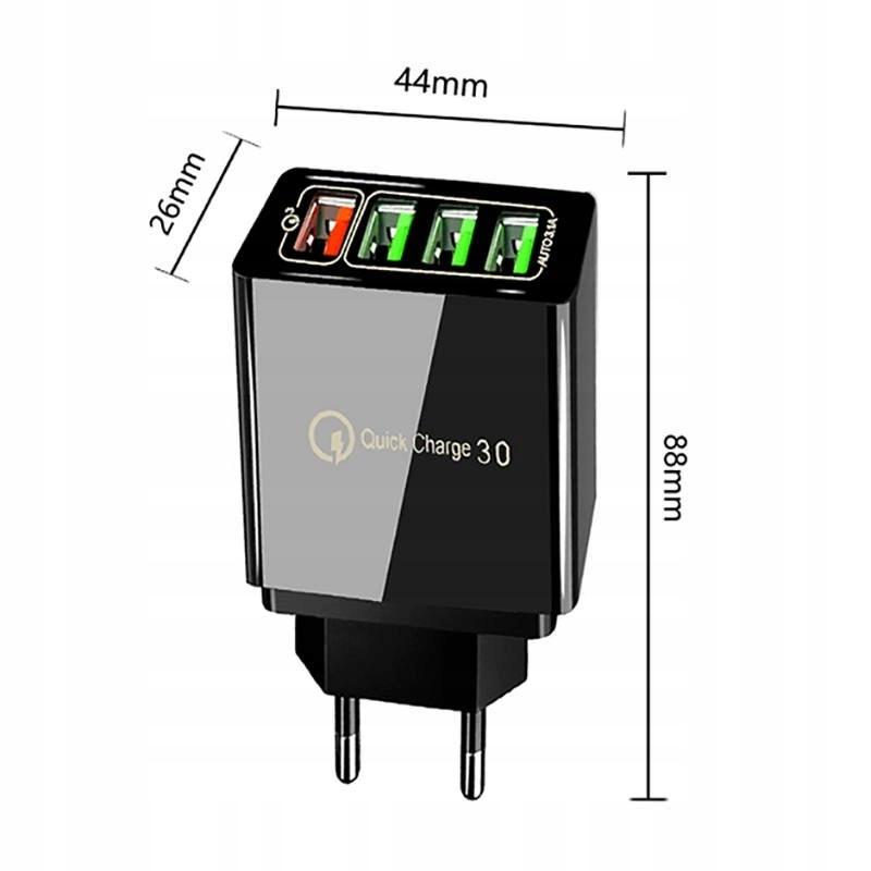Ładowarka Sieciowa 3xUSB + USB QC3.0 EAN 1068710501933