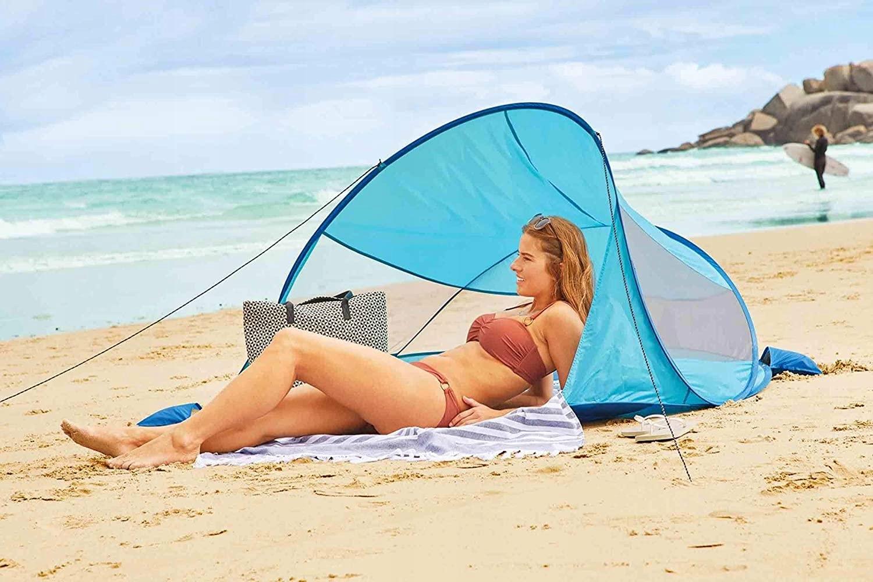 Namiot plażowy plażę parawan samorozkładający POP Cechy dodatkowe kieszonka pokrowiec w zestawie samorozkładający uchwyt do przenoszenia