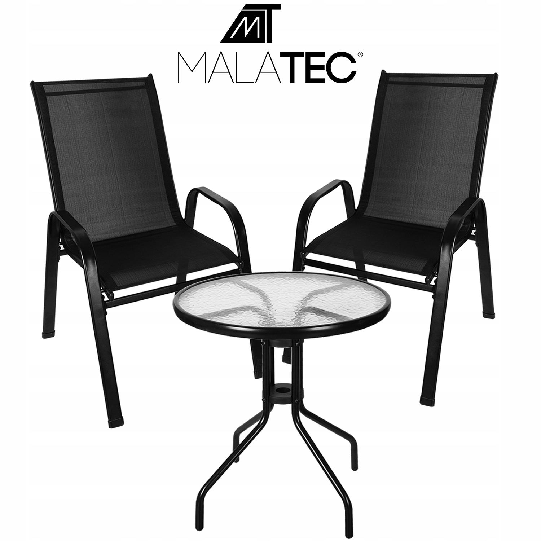 Meble na Balkon Ogród Taras Komplet Stół 2 Krzesła EAN 5900779938786