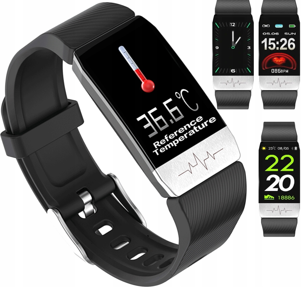 SMARTBAND TIE FIT SMARTWATCH WATCH THERMOMETER