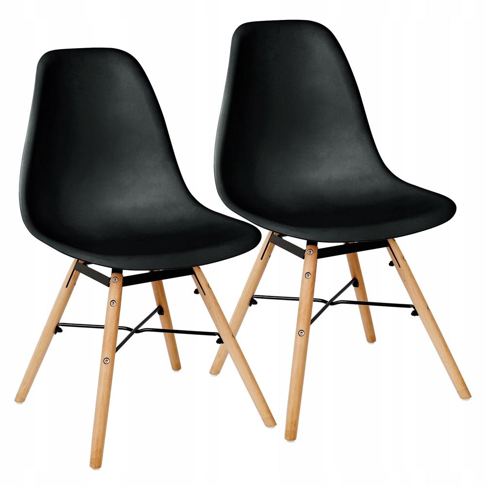 2 jedálenské stoličky Retro čierne kreslá