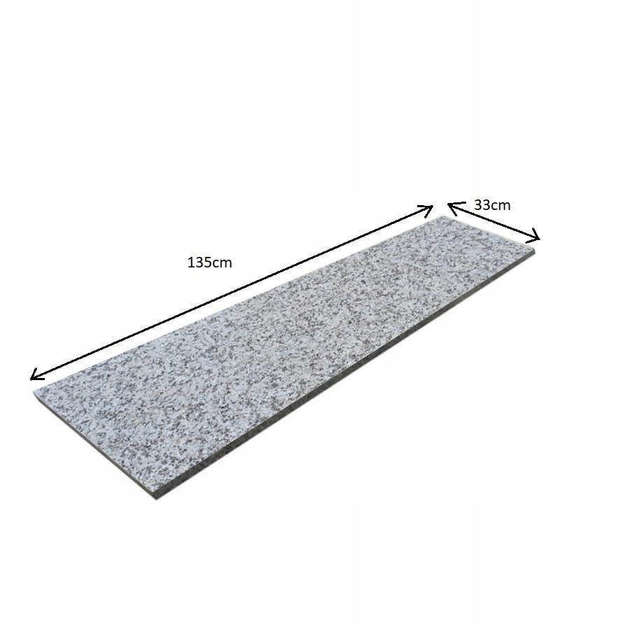 Лестница противоскользящая из серого гранита G602 135x33
