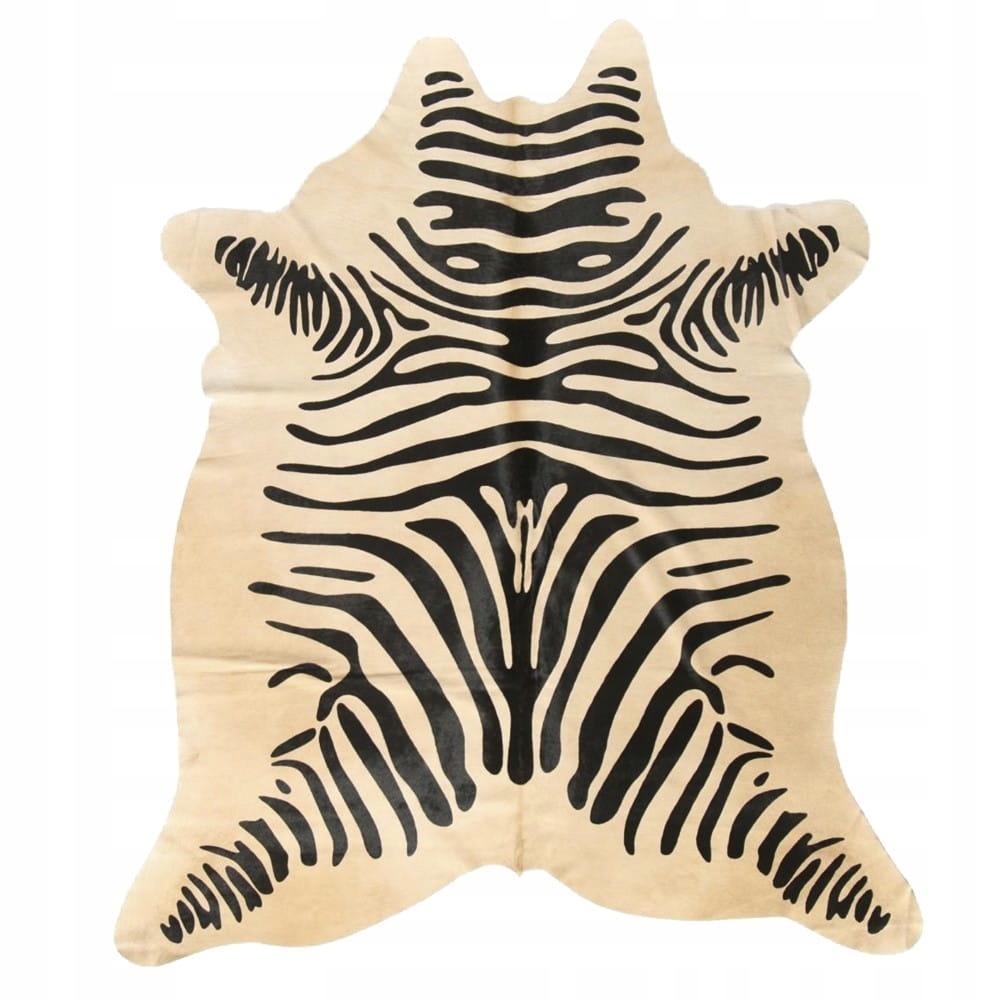Koberec Na Zebra koberec krava pokožky prášok 150x250x0,3 cm
