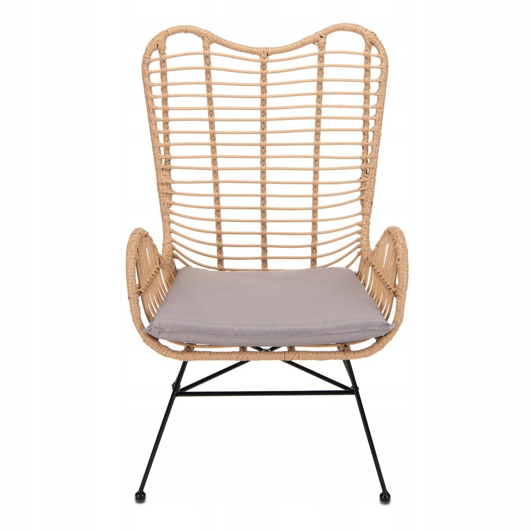 Скандинавское кресло из плетеного ротанга, бохо