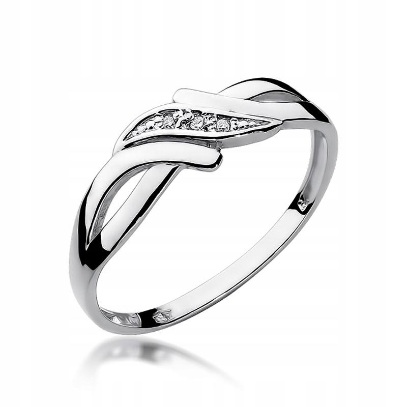 Prsteň s diamantmi biele zlato RYTEC ZADARMO