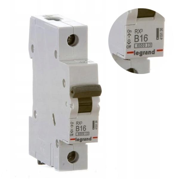 Автоматический выключатель LEGRAND RX3 B16A S301 419136