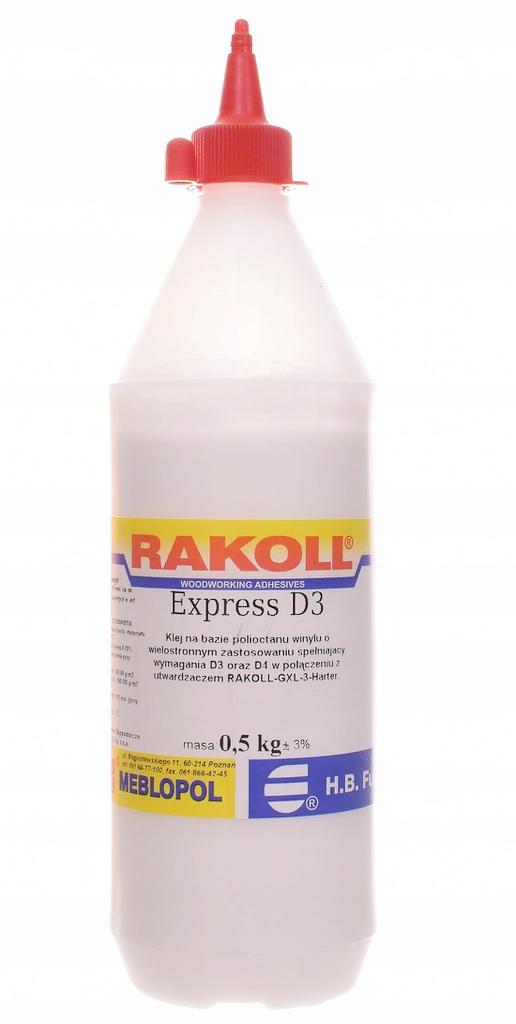 Klej do drewna wodoodporny Rakoll Express D3 500g