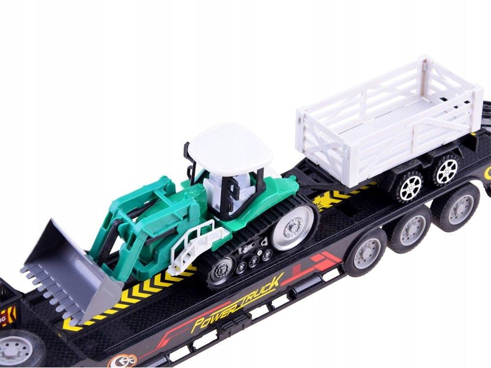 Tir Laweta + Traktor z Przyczepą Zestaw R/C RC0208 Materiał Metal Plastik