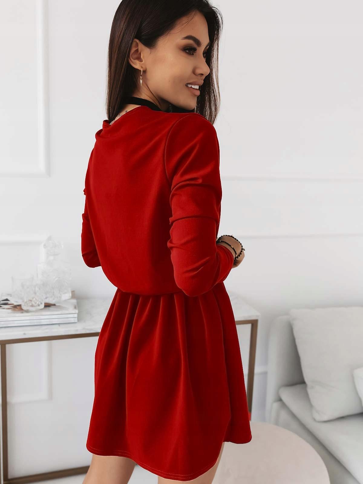 Купить Платье-конверт, пояс на резинке, расклешенный красный на Otpravka - цены и фото - доставка из Польши и стран Европы в Украину.