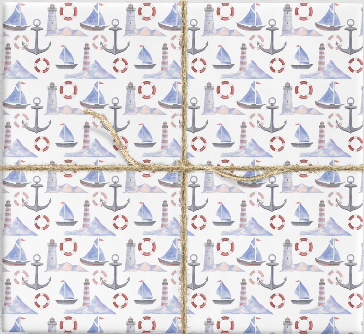 Darčekový baliaci papier. Marine 10ark