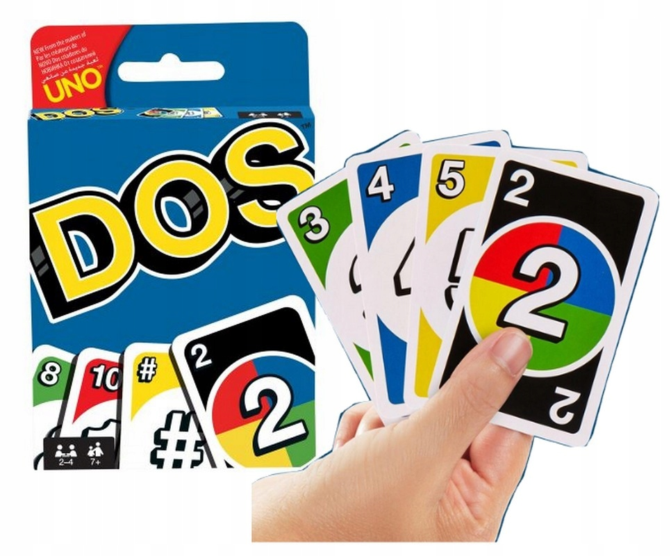 DOS CARD GAME - UNO MATTEL FRM36