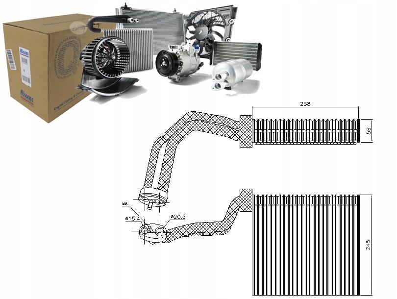 испаритель кондиционирования воздуха audi a4 20 tdi 16v 8ec b7