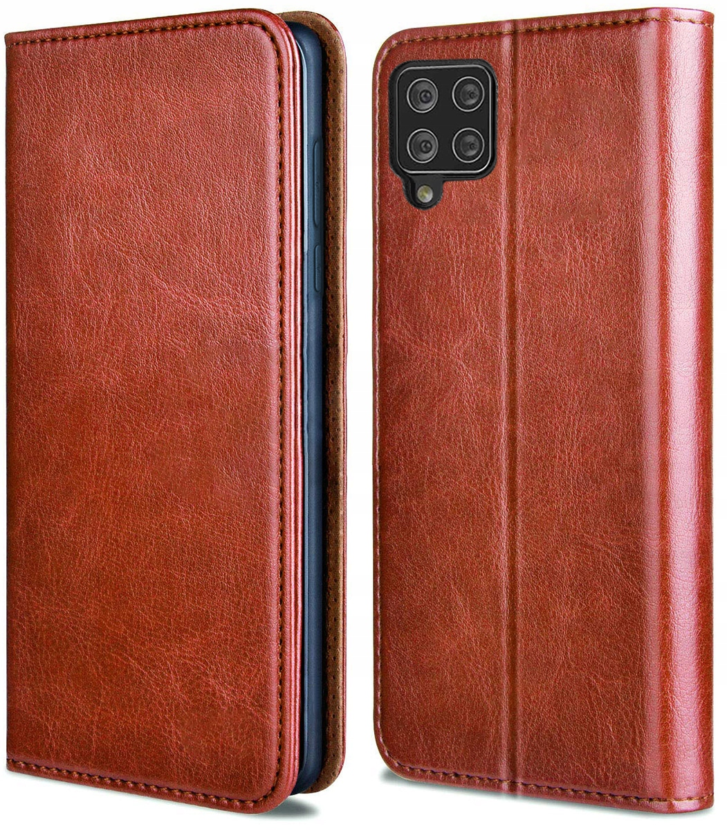 Etui do Samsung Galaxy A42 5G Skórzane Case +Szkło