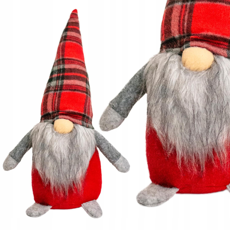 Новогодний гном карлик Дед Мороз большой на Рождество