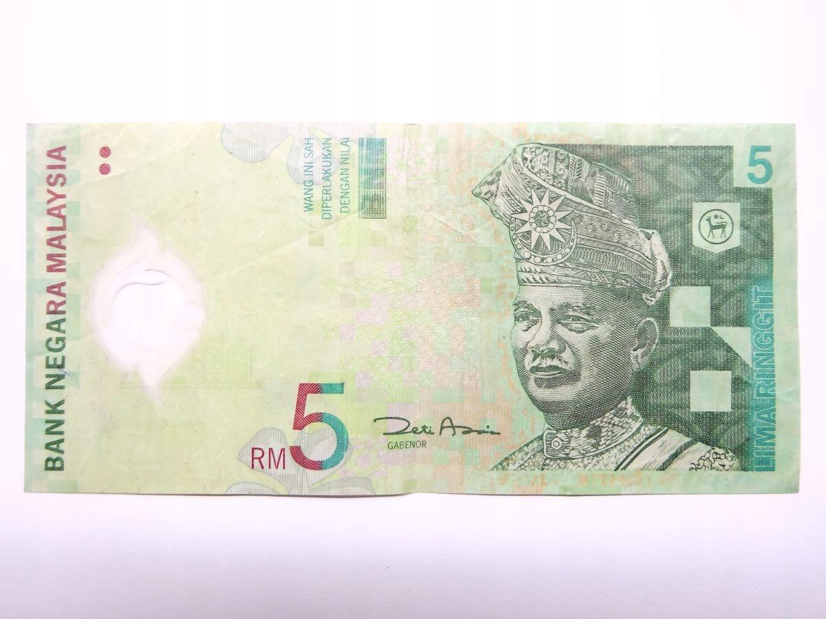 5 ринггит 2004 Малайзия - банкнота из обращения